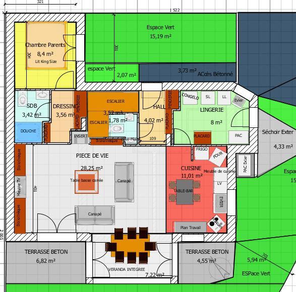 avis plan maison r 1 de 120m avec v randa expos e sud sud ouest en loire atlantique 64 messages. Black Bedroom Furniture Sets. Home Design Ideas