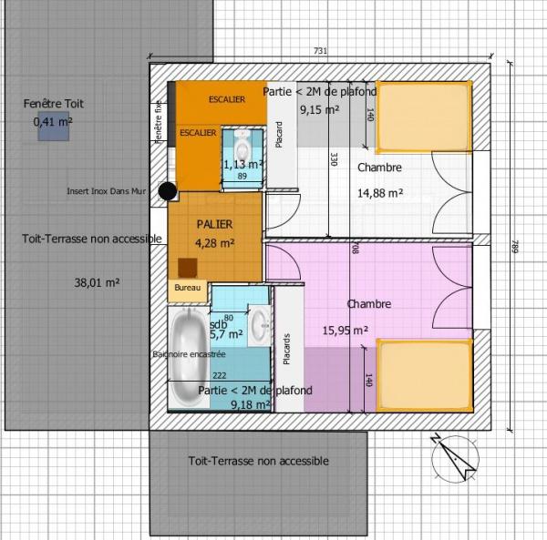 Avis plan maison r 1 de 120m avec v randa expos e sud - Plan maison sud ouest ...