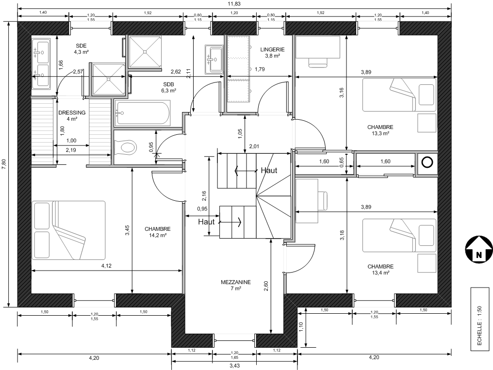 Avis plan maison r 1 environ 145 m bbc 8 messages for Plan de maison de 90m2