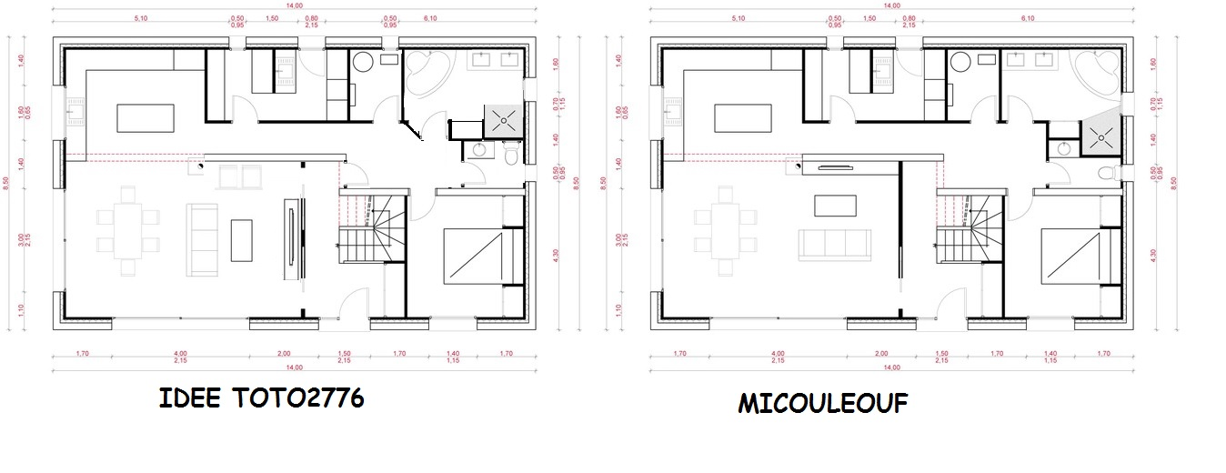 Avis plan maison r 1 150 m2 221 messages page 5 for Plan maison 80m2