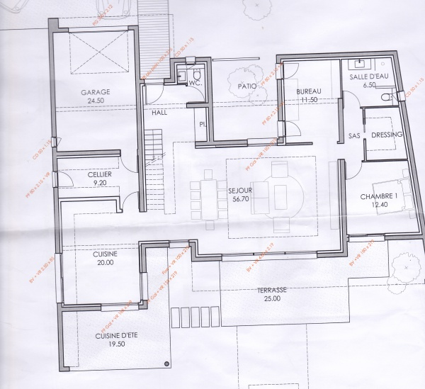 Plan de maison orientee sud for Plan maison sud est