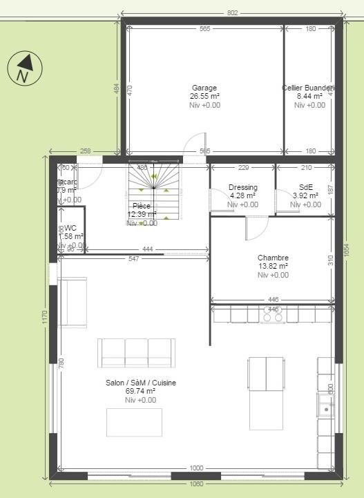 Plan Maison Rdc 3 Chambres. Finest Plan Rdc Maison Maison Familiale