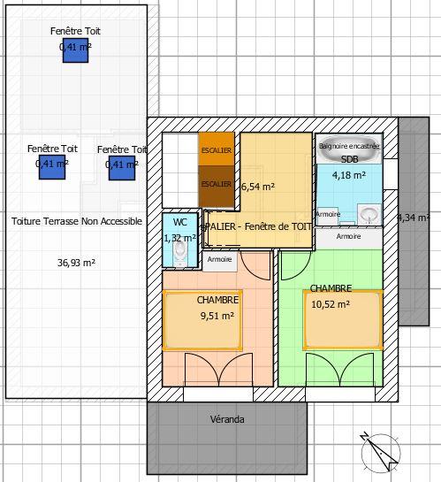 Avis plan maison r 1 expos e sud sud ouest en loire - Plan maison sud ouest ...