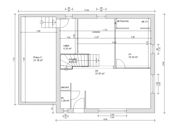 Plan de maison 110m2 for Plan maison 110m2 plain pied