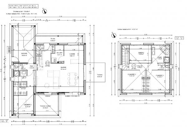 Belle Votre avis sur le plan de ma maison 120 m2 avec étage [Résolu VN-99
