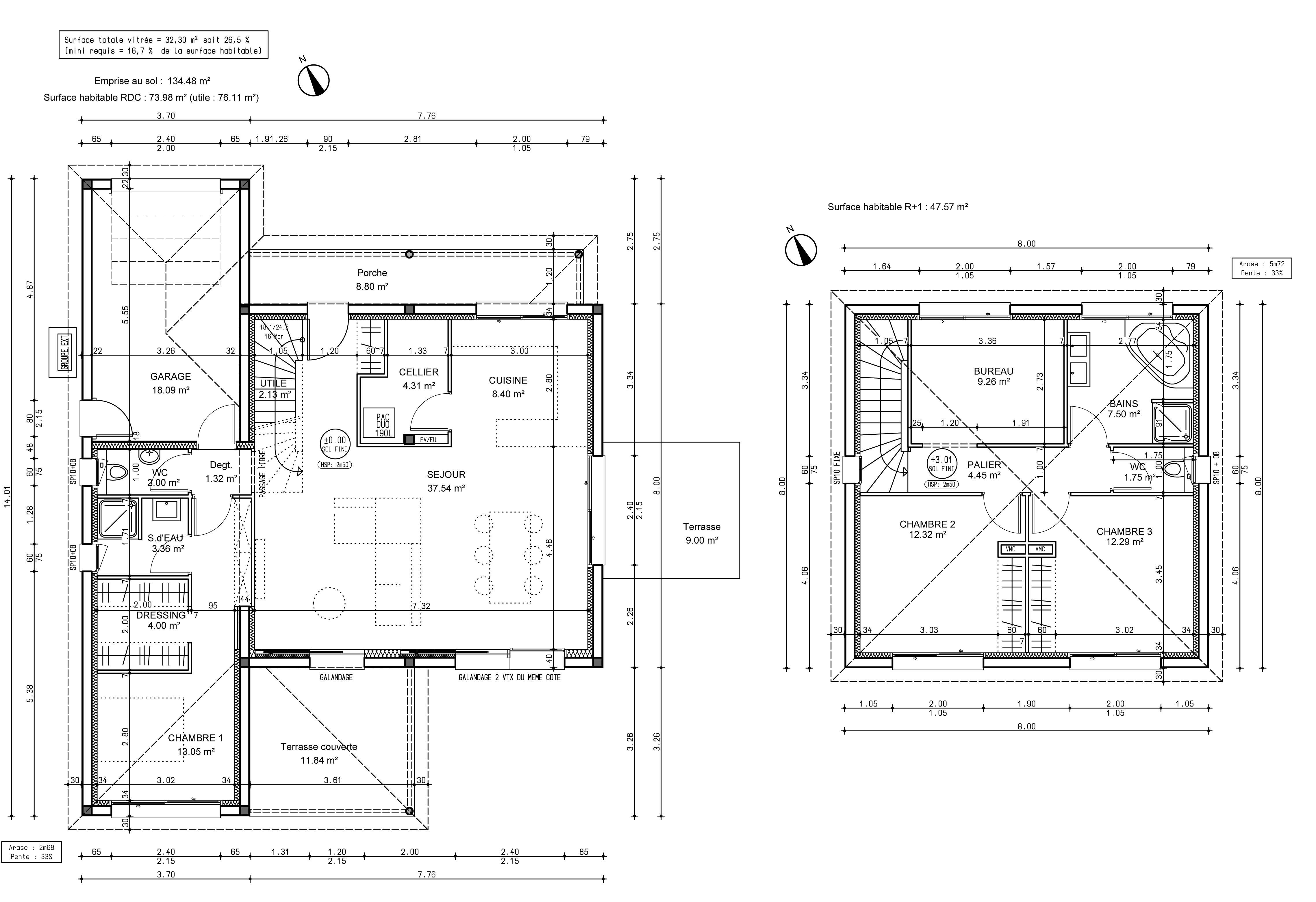 Plus adapté Votre avis sur le plan de ma maison 120 m2 avec étage [Résolu DD-34