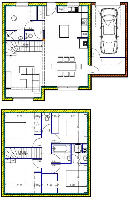 Fabulous Votre avis Plan de maison 122m2 avec suite parentale - 122  IP32