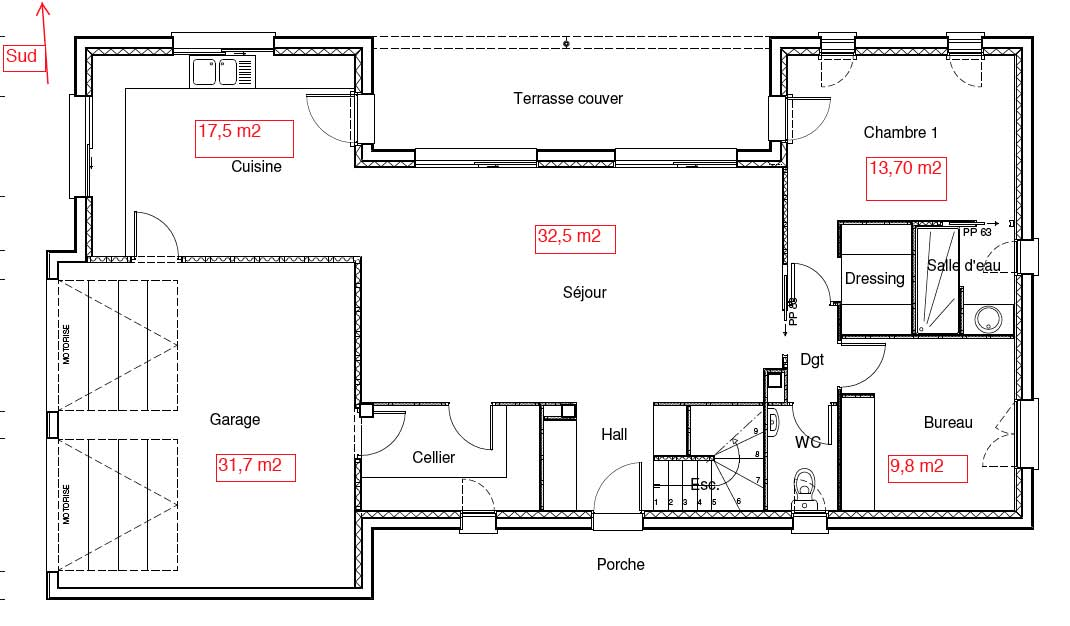 Avis plan maison 130 m2 tage partiel r gion toulouse for Plan de maison avec combles amenages