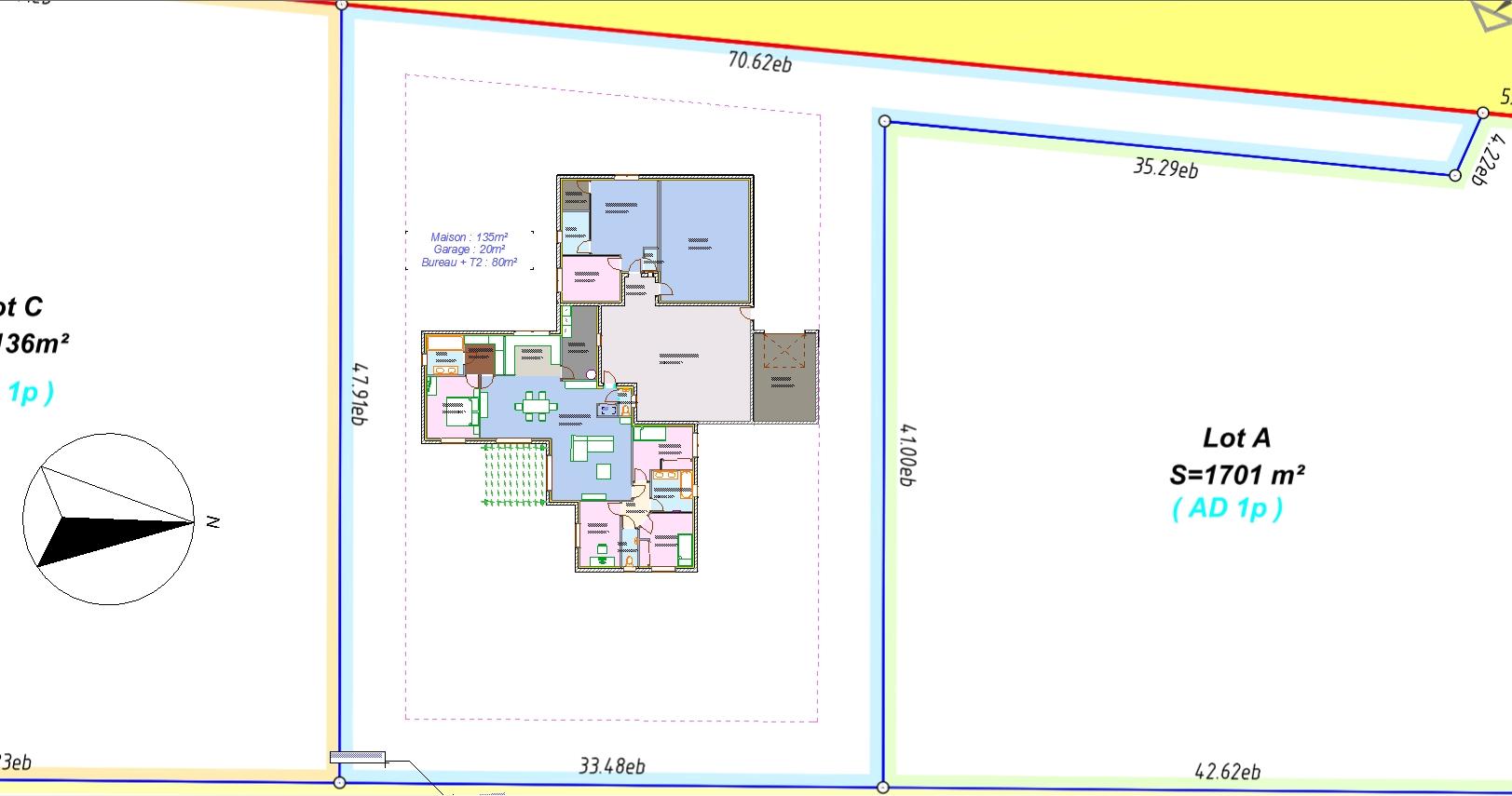 Avis plan maison 135m garage annexes 80m 95 messages for Garage annexe maison