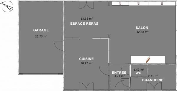 un vrai plan de maison