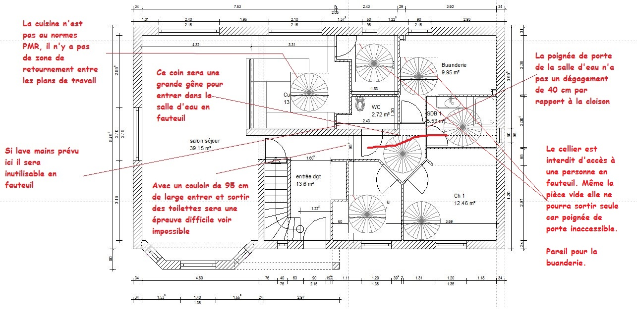 Conception plan maison plan de maison surmesure 90 m - Conception plan maison gratuit ...