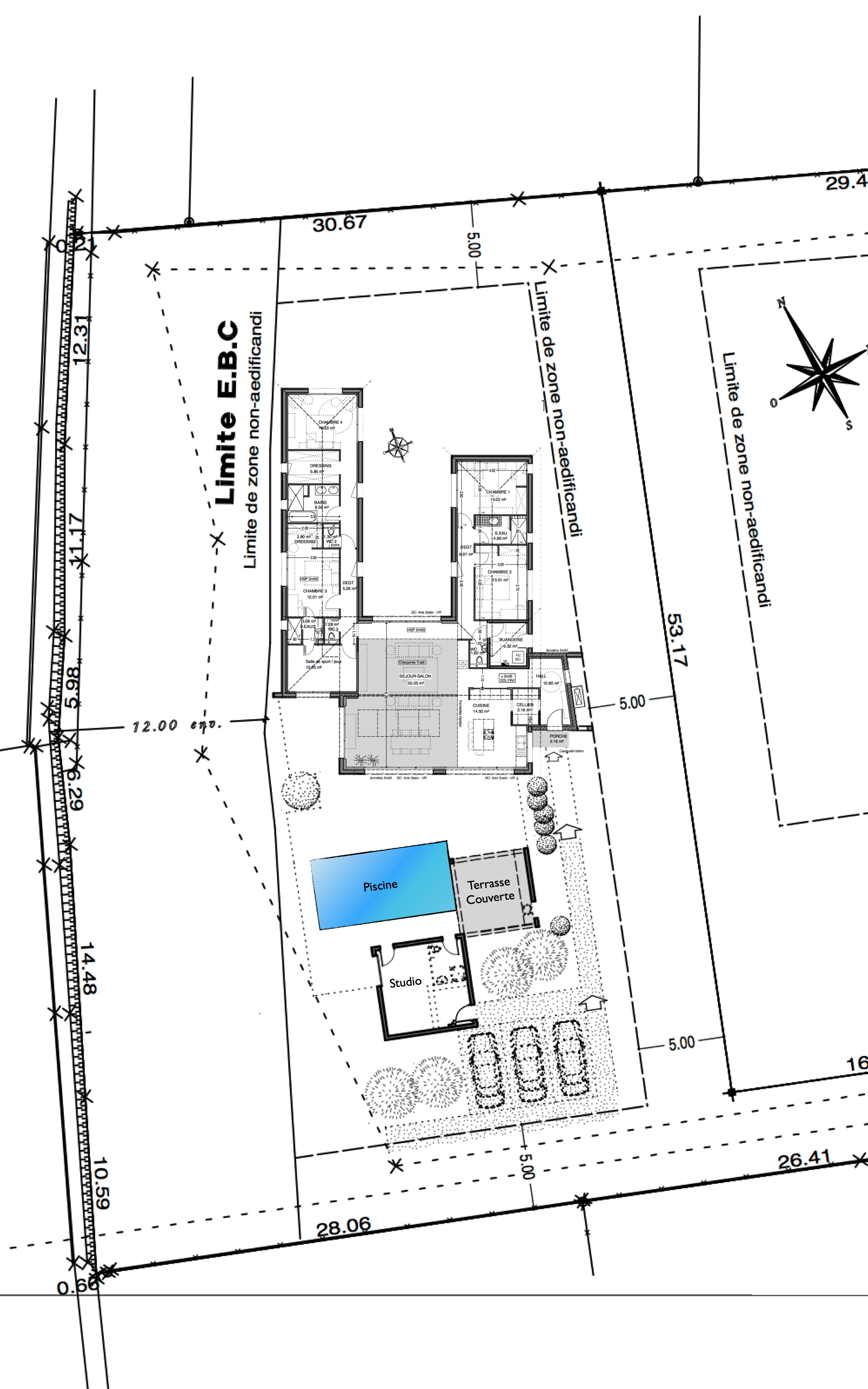 Merci duavance pour votre aide et vos conseils with plan for Plan maison 200m2