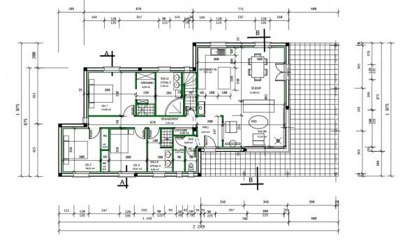 lire un plan de maison. Black Bedroom Furniture Sets. Home Design Ideas