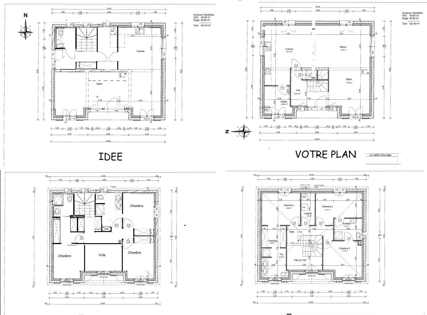 Plan Maison 140 M2 Etage   Ventana Blog
