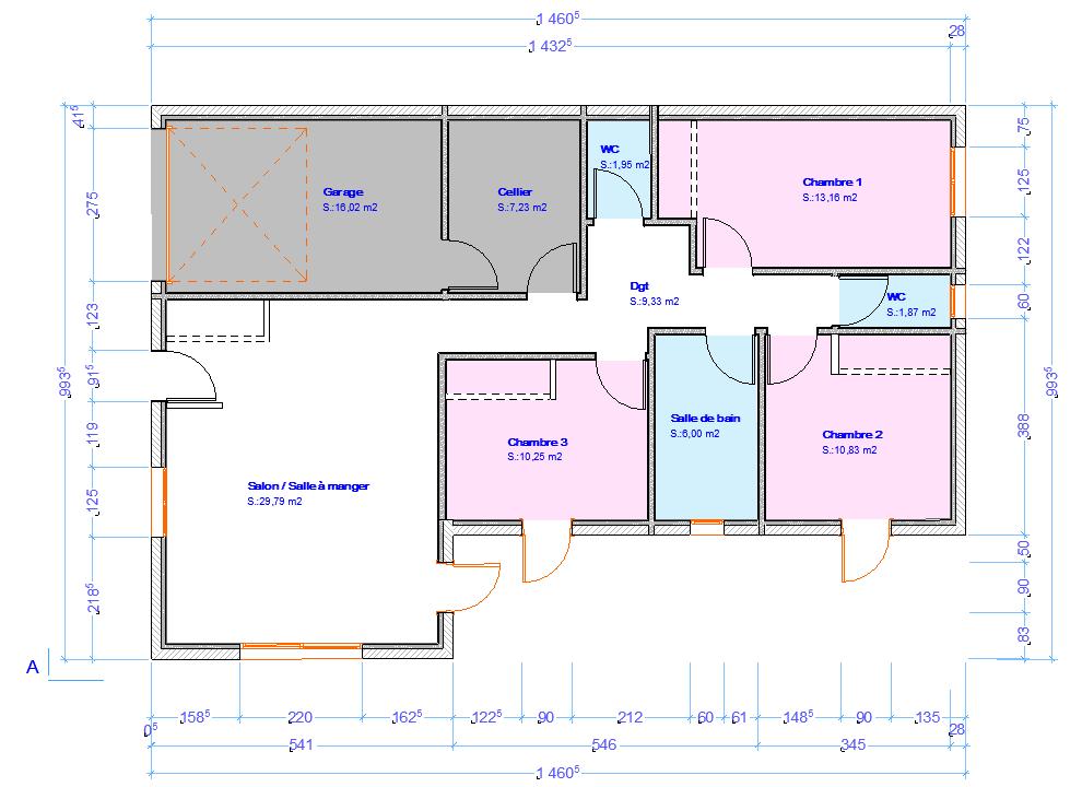 ... Juai Duors Et Dj Modifi Les Portes Des Wc Pour Quuelle Suouvrent Par  Luextrieur With Plan Maison Sous Sol Complet With Plan Maison Jumele Par Le  Garage