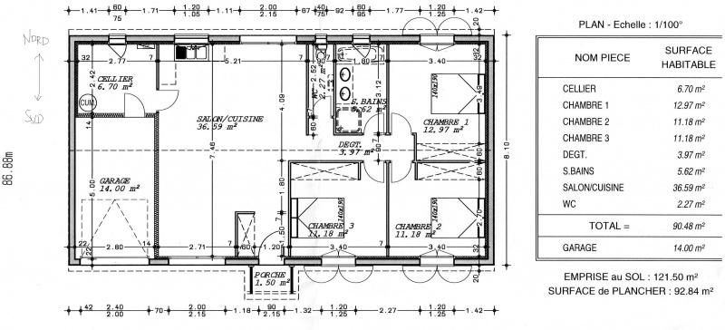Avis Sur Notre Plan De Maison M With Plan Maison Plain Pied 90m2