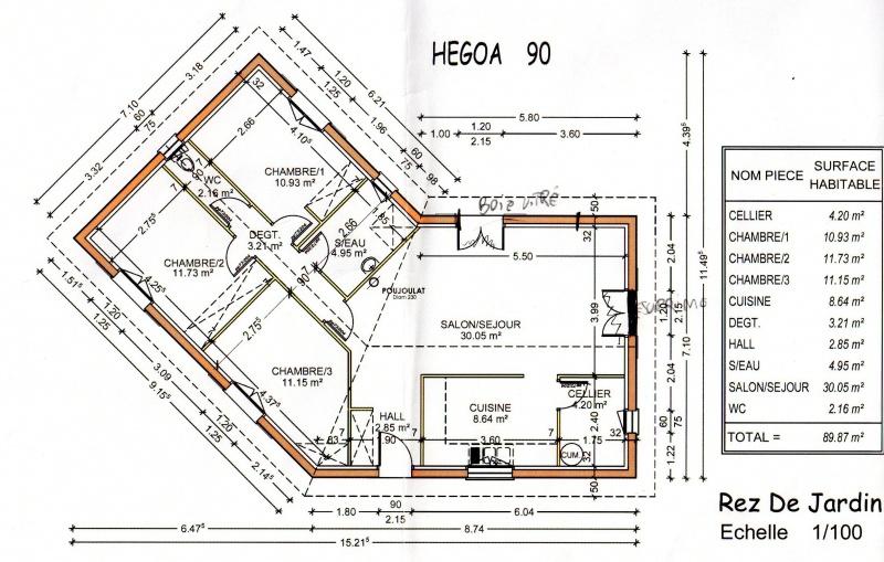 avis sur notre plan de maison 90m2 330 messages. Black Bedroom Furniture Sets. Home Design Ideas