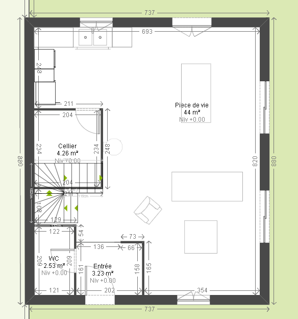 Avis plan maison 90m2 r solu 357 messages for Plan de maison de 90m2