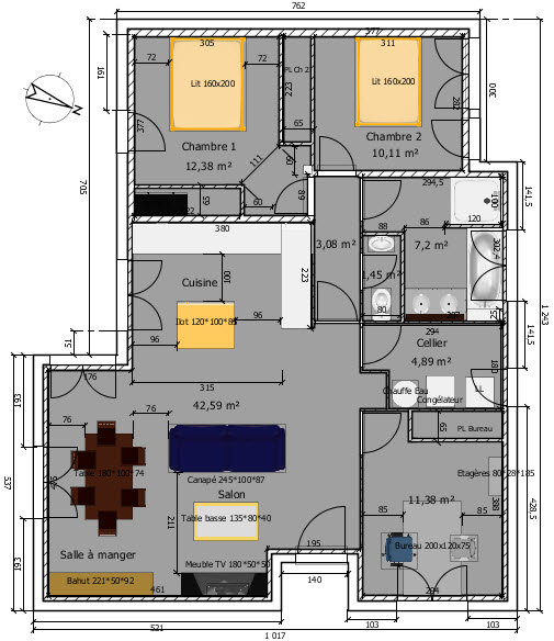 Plan maison ancienne awesome logement conome with plan for Plan ancienne maison