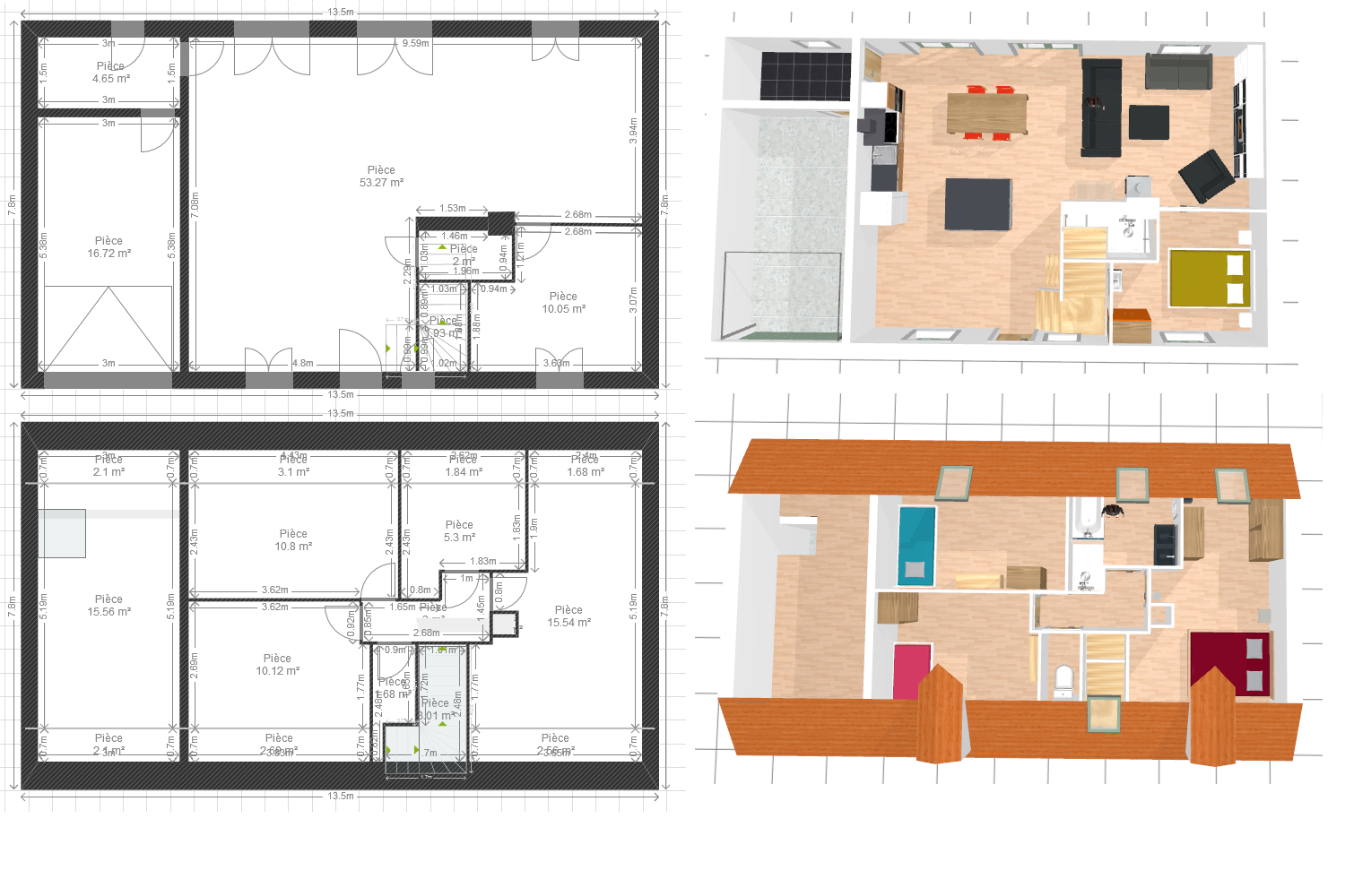 #7E0E26 Avis Plan De Maison Merci D'avance ! 58 Messages 3017 plan maison suite parentale dressing 1500x1000 px @ aertt.com