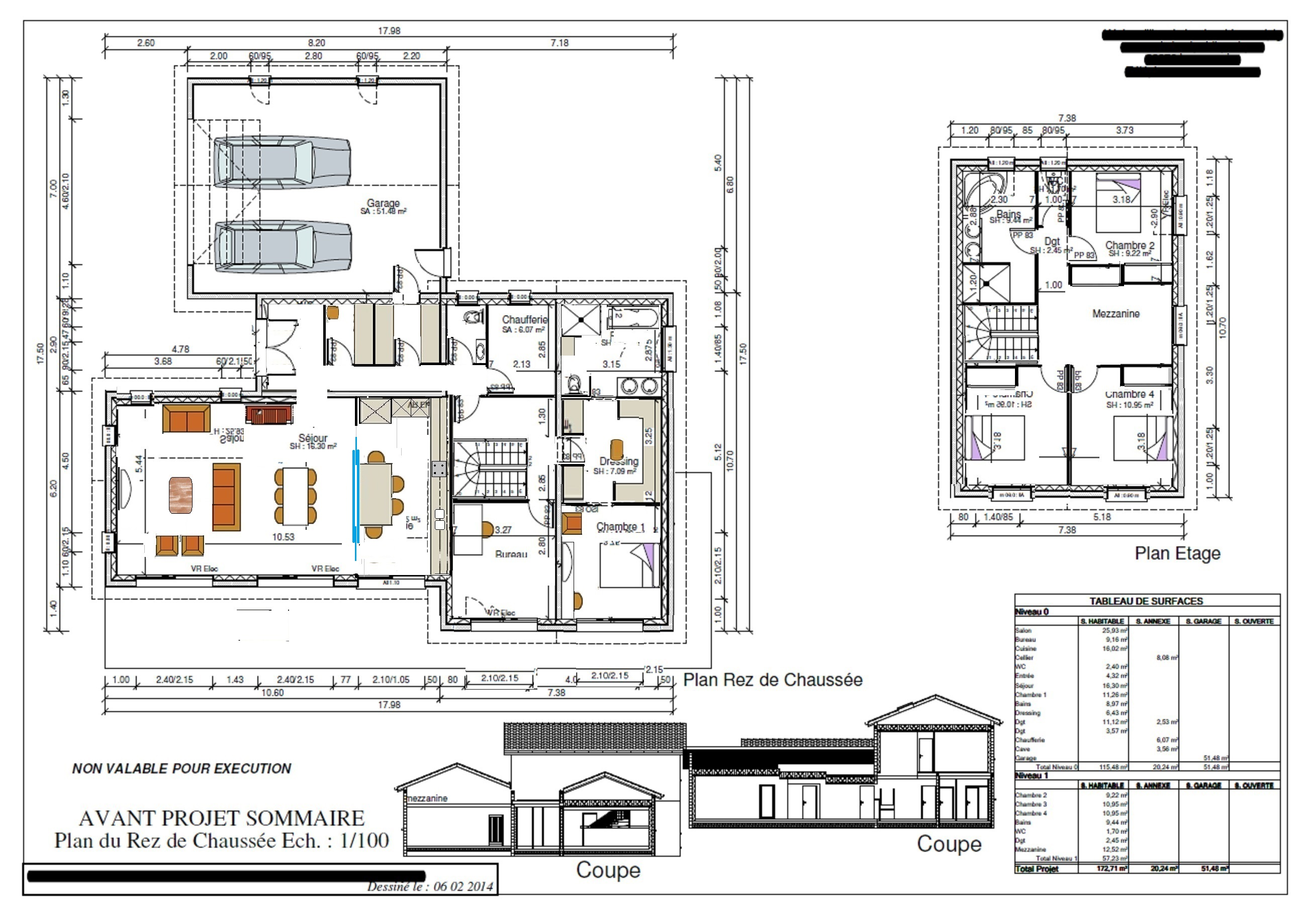 Plan maison etage 170m2 for Site plan de maison