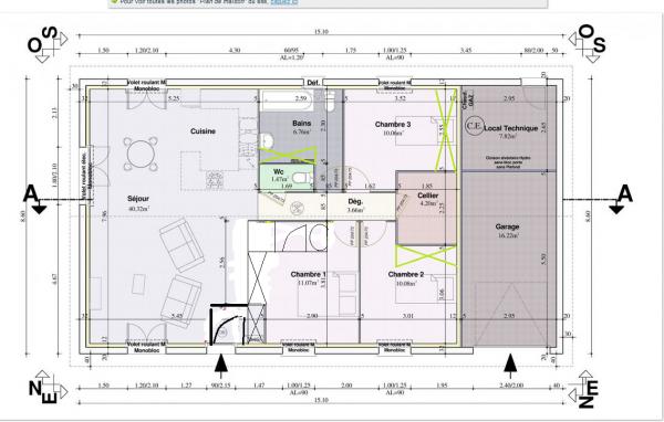 Avis pour plan maison plein pied 89m2 11 messages for Creer une salle de bain dans une chambre