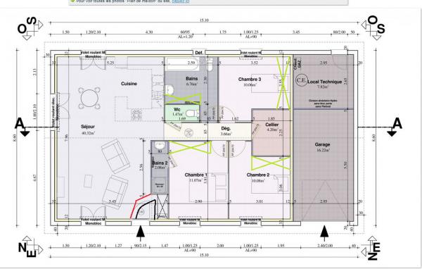 Plan petite maison 3 chambres basses programme neuf - Programme pour plan de maison ...