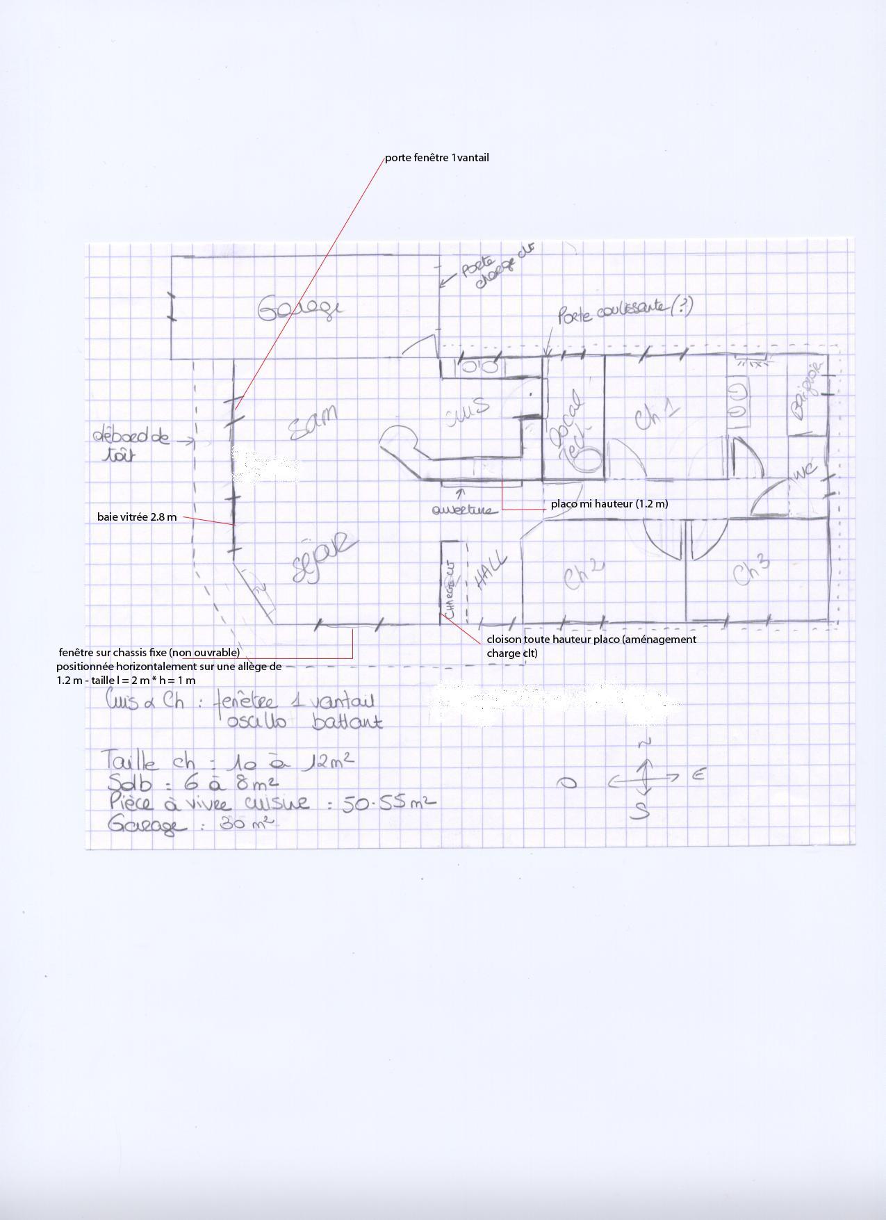 avis sur plan maison plain pied 100 m environ bbc 10 messages. Black Bedroom Furniture Sets. Home Design Ideas