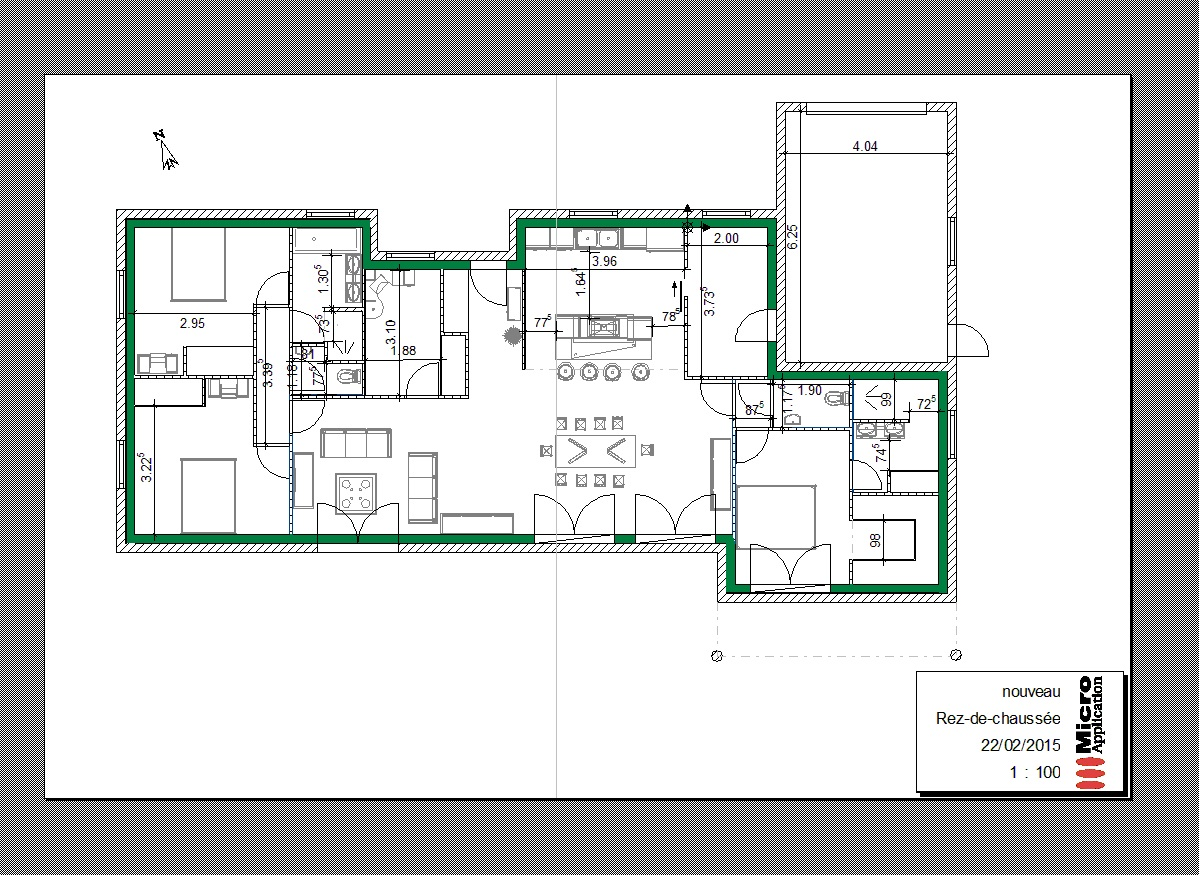 Plan maison plain pied 130 m2 segu maison for Plain pied plan