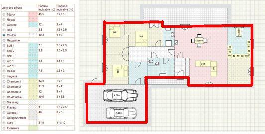 Plan Maison  Chambres Plain Pied Gratuit Stunning Plan Maison