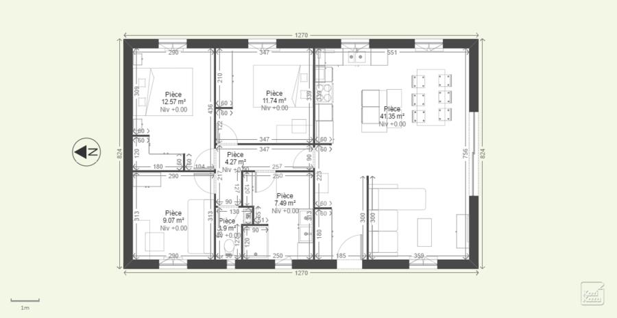 Avis plan maison de plain pied 90m 23 messages for Plan maison plain pied 100m2
