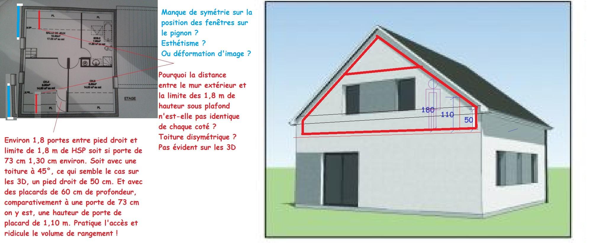 Avis plan maison plain pied tage 71 messages page 5 for Plan comble amenageable