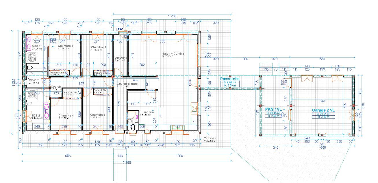 plan de maison 180 m