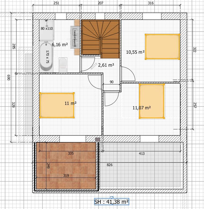 Avis plan maison sur terrain 221 m2 314 messages for Plan maison sur terrain