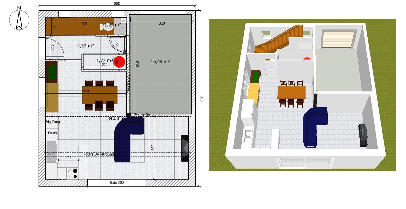 plan maison 8x9. Black Bedroom Furniture Sets. Home Design Ideas