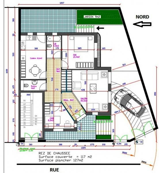 plan maison avec appartement independant