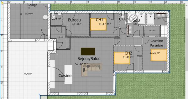 plan maison plain pied 125m2
