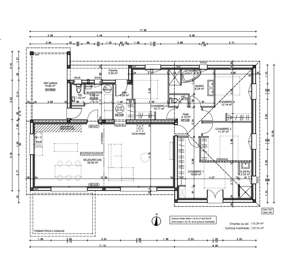 Avis sur plan plain pied environ 130 m2 26 messages - Plan buanderie cellier ...