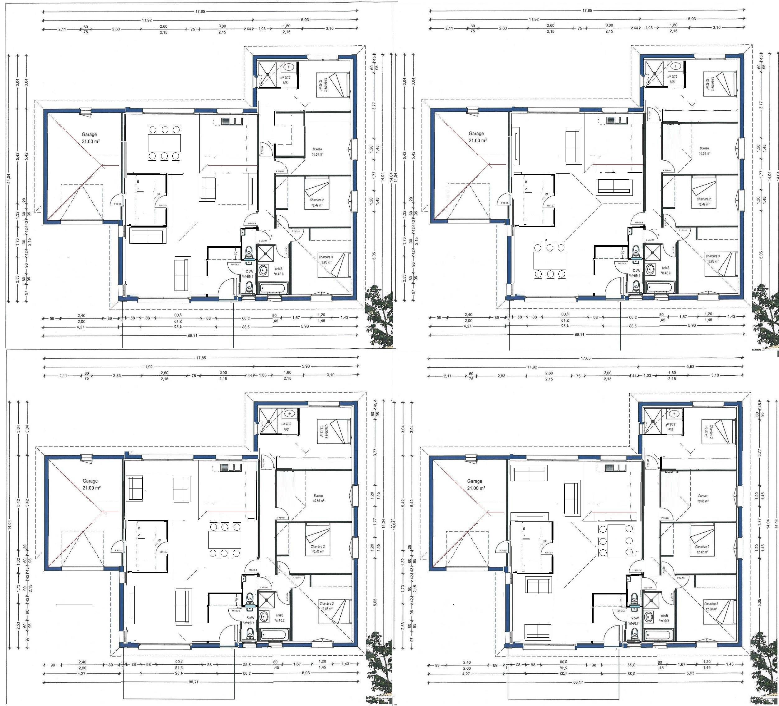 Avis plan plain pied 140 m² avec zone aedificandi limitée 82