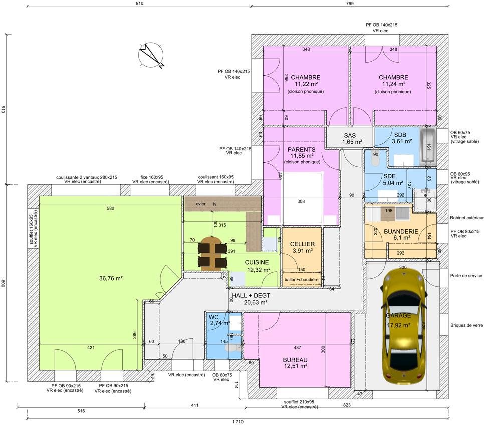 Perfect Plan Maison Architecte Gratuit A Chambres Marseille Photo  Phenomenal Plan Maison Moderne Tunisie Gratuit Pdf With Plan De Maison  Plain Pied Chambres ...