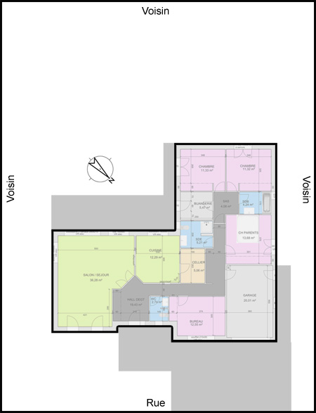 Plan de maison 4 chambres plain pied gratuit une maison - Plan maison 4 chambres plain pied gratuit ...