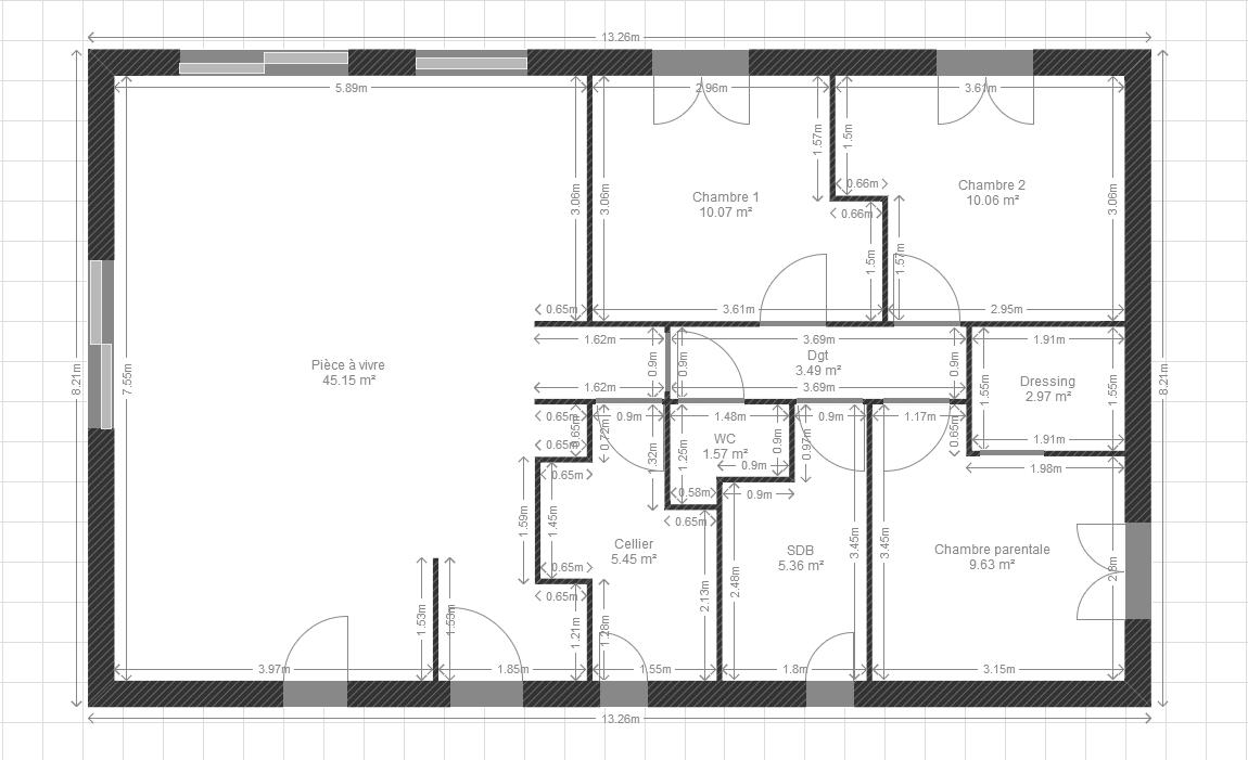 Plan de maison 90m2 plain pied gratuit gallery of plan for Plan maison plain pied 90m2