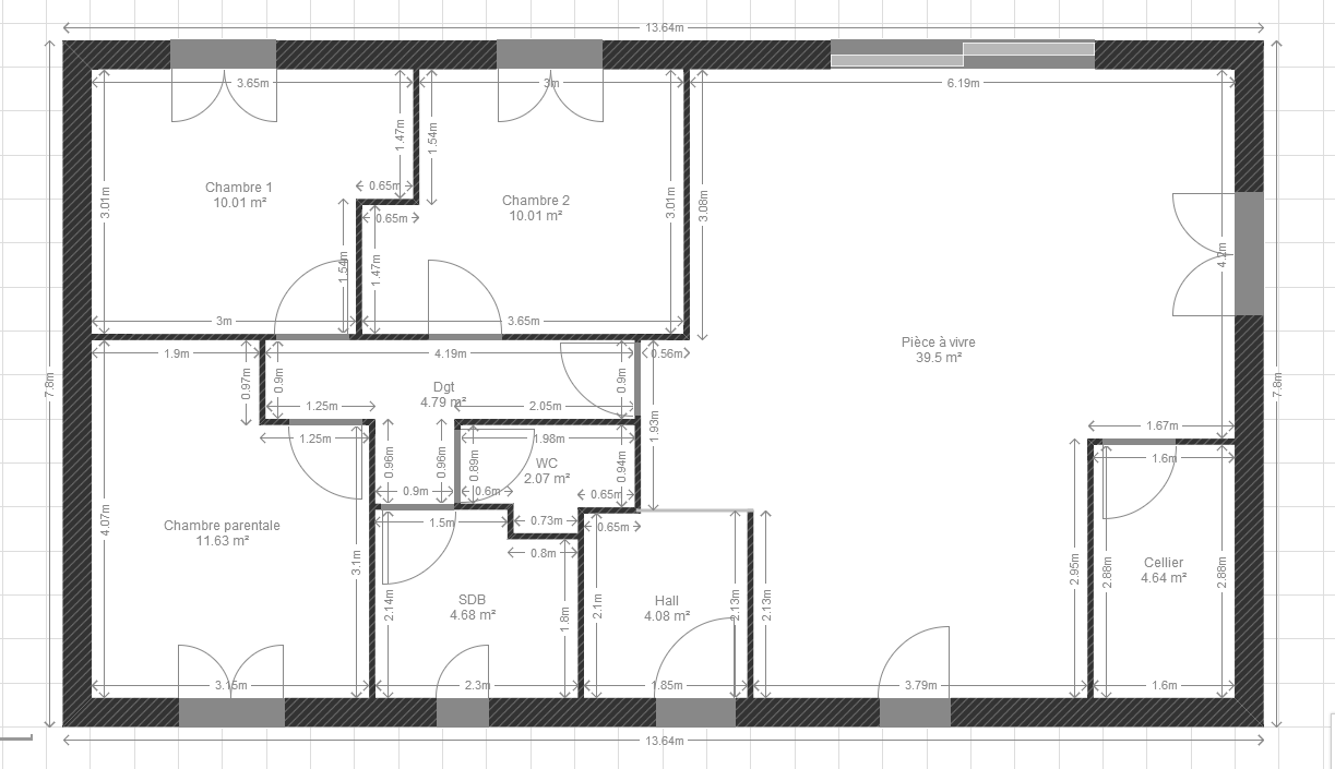 Avis plan rt 2012 maison plain pied 90m2 habitable 71 for Prix m2 maison rt 2012
