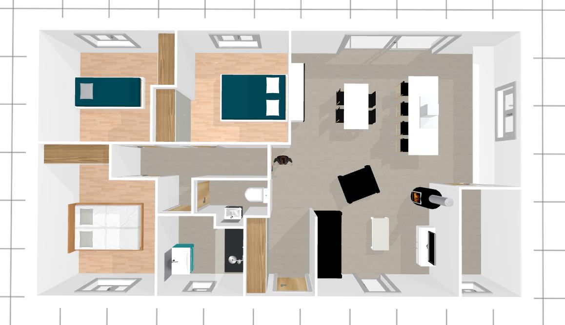 avis plan rt maison plain pied m habitable with plan maison 90 m2 - Plan Maison 90m2 Plain Pied