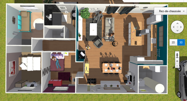 Charmant Avis Plan RT 2012 Maison Plain Pied 90m2 Habitable.