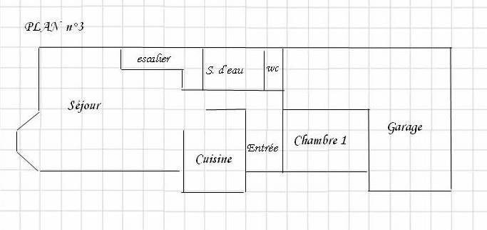 Plan Maison  Chambre M Plain Pied En L Bbc Ch Cuisine Ouverte On