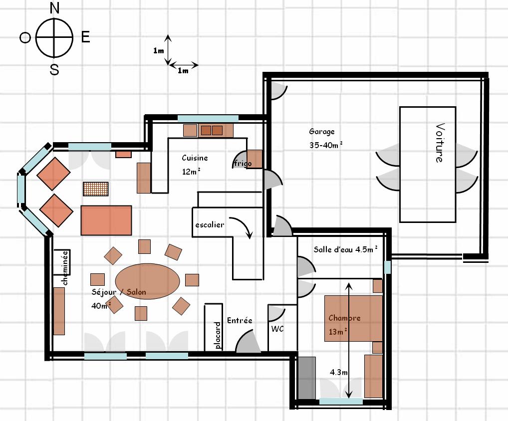 Votre avis sur mes plans 83 messages page 4 for Maison avec bow window