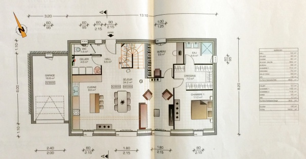 Avis plans maison r 1 120m2 47 messages Plan maison suite parentale rdc