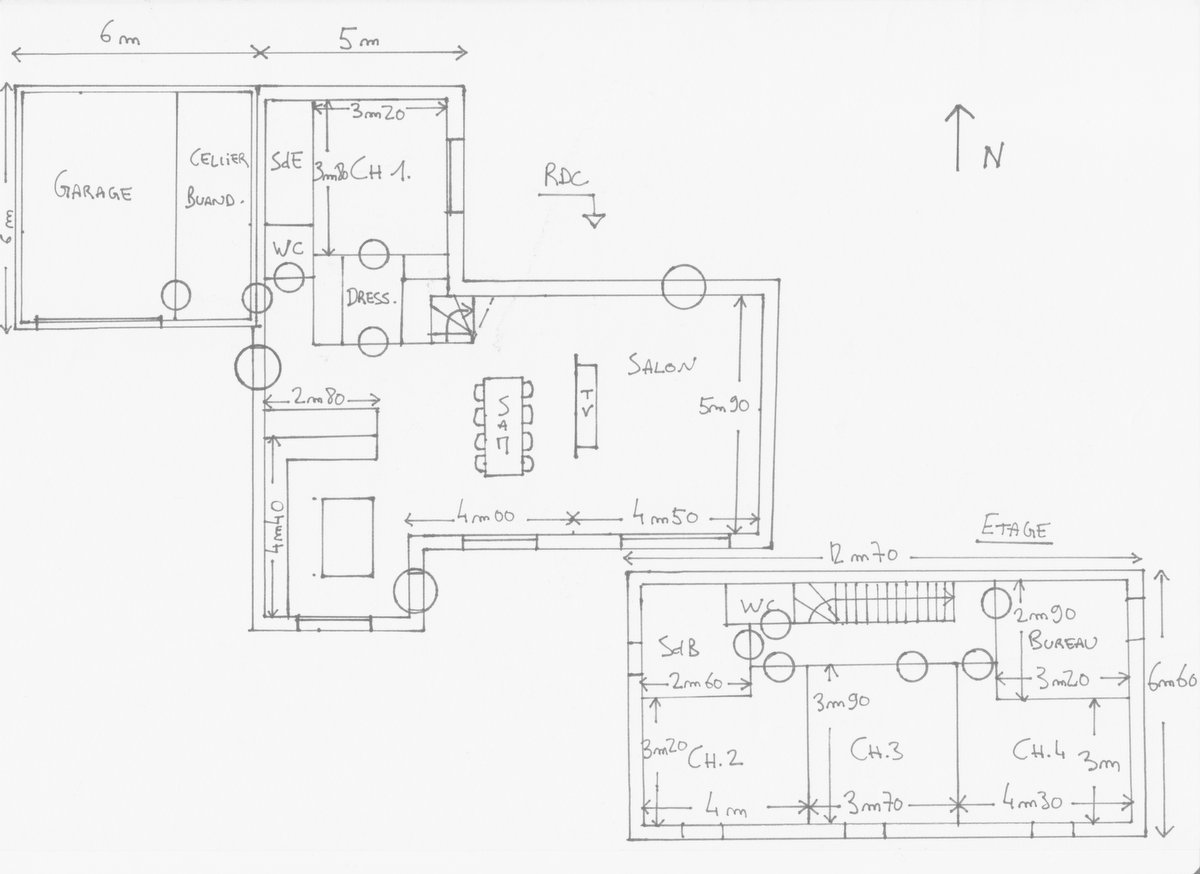 Plan maison r 1 160 m2 for Tous les plans de maison