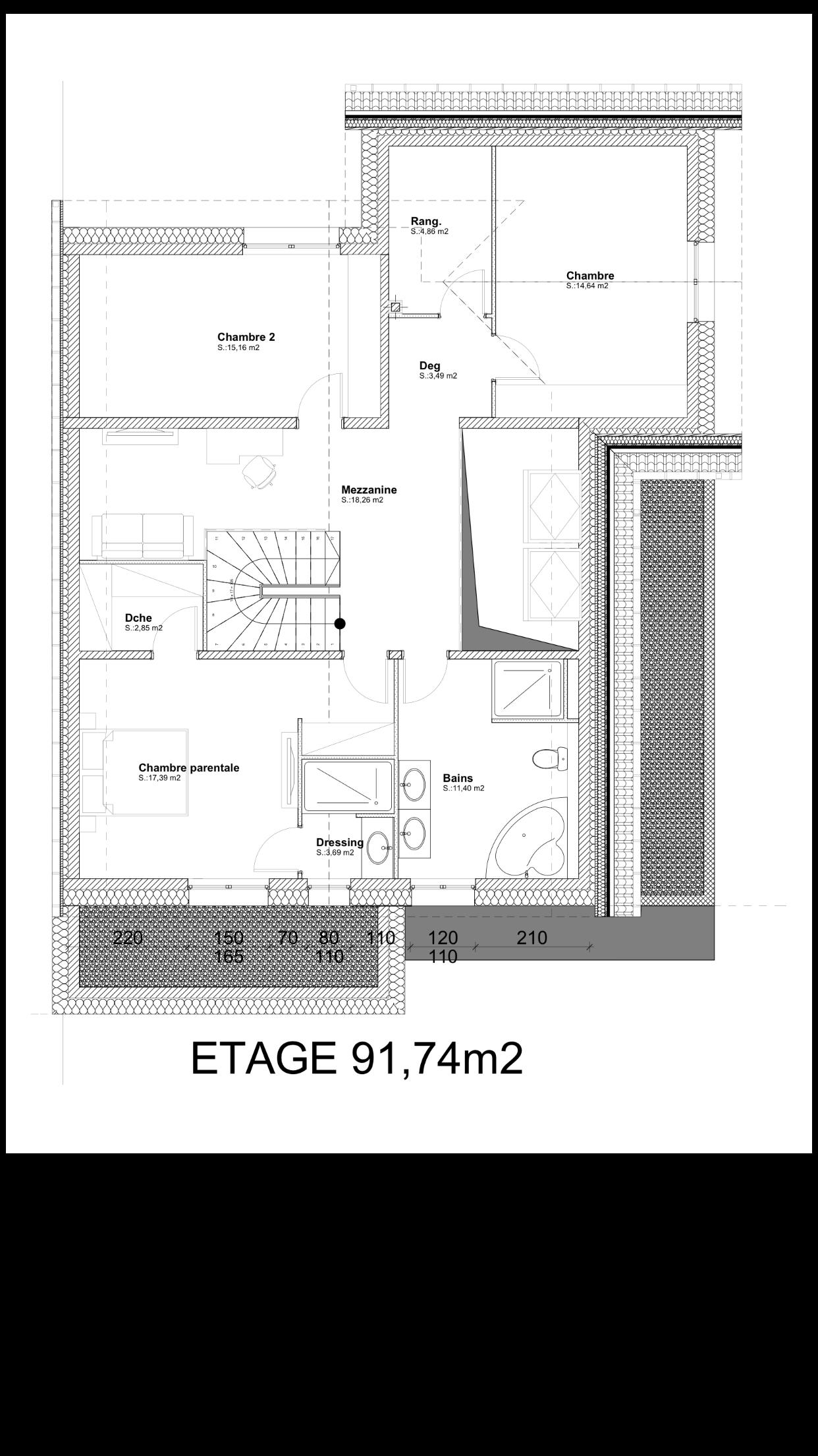 construire une maison de 200m2 construire sa maison en. Black Bedroom Furniture Sets. Home Design Ideas